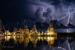 Florida Keys lighting storm.