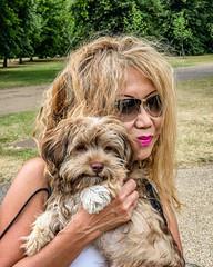 20180718-IMG_0587 Bear and me (susi luard 2012) Tags: camembert susiluard bear dog gardens kensington london uk