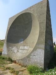 UK - Kent - Near Hougham - Sound mirror WW2 installation - forerunner of radar (JulesFoto) Tags: uk england kent centrallondonoutdoorgroup clog hougham northdownsway englandcoastpath