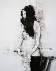 P1018405 (Gasheh) Tags: art painting drawing sketch portrait figure girl line pen pastel gasheh 2018