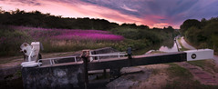 Canal Panorama [Explore] (SimonBaker5) Tags: kennetandavoncanal summer canal lock evening sunset froxfieldmiddlelock wiltshire