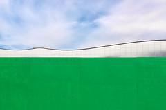 A Library Composition 1 (pni) Tags: oodi ode fence green library kirjasto bibliotek sky cloud helsinki helsingfors finland suomi pekkanikrus skrubu pni