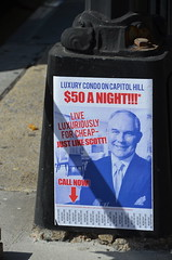 Luxury condo on Capitol Hill $50 a night!!! (afagen) Tags: washington dc washingtondc districtofcolumbia sign poster scottpruitt