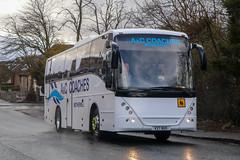 A&C, Motherwell V27BUS (busmanscotland) Tags: ac motherwell v27bus v27 bus volvo b12b jonckheere mistral davies betws gwerfil goch gha coaches redline penwortham