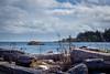 driftwood view (kevin.boyd) Tags: albert head lagoon victoria bc canada ocean sea beach driftwood rock cloud blue