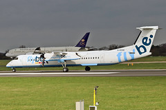 G-ECOC DHC-8Q 402 Flybe MAN 18-04-18 (PlanecrazyUK) Tags: egcc manchester man ringway manchesterairport gecoc dhc8q402 flybe 180418