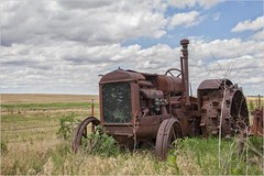 The Retired Field Enforcer (A Anderson Photography, over 2.5 million views) Tags: tractor mccormickdeering canon clouds cloudy