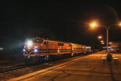 The Night Shift (southernspiritnr84) Tags: emd gwa gm g bulldog nightshot railway sa southaustralia train portaugusta australia