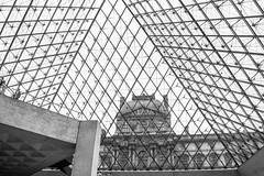 The Louvre (*~Dharmainfrisco~*) Tags: dharma dharmainfrisco eiffel tower louvre river boat tour travel paris france view misty rainy day art deco painting pyramid