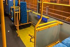 Arriva London, Route 410, PDL129 LJ56 ARZ Bus Interior, 14th February 2017 (2) (LFaurePhotos) Tags: arrivalondon londonbynight pdl129 crystalpalace interior lfaurephotos londonbus route410 southeastlondon lj56arz