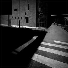 Lay in the Alley (Olli Kekäläinen) Tags: work4450 nikon d800 photoshop ok6 square ollik 2018 20180710 bw blackandwhite dark scenery street malmi suomi finland helsinki