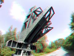 Monument Barendrechtse Brug 3D (wim hoppenbrouwers) Tags: monument barendrechtse brug 3d barendrechtsebrug anaglyph stereo redcyan gopro