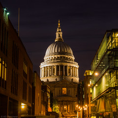 Good evening Paul (The Frustrated Photog (Anthony) ADPphotography) Tags: architecture category england external london master places stpaulscathedral sunset t189 travel canon1585mm canon canon550d outdoor city capitalcity church dome lightsatnight street streetphotography