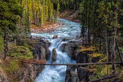 Sunwapta Falls (Philip Kuntz) Tags: waterfall sunwaptariver sunwaptafalls fall autumn glacialwaters icefieldsparkway alberta canada