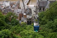 Cable Car (Johan Moerbeek) Tags: citadel dinant belgië cablecar kabelbaan stad groen bos kasteel