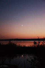 Reflection (JEAKS Photo) Tags: view autumn summer landscape sunset nature reflection island colors seascape home moon aland outdoor
