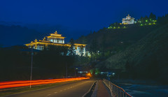 Blue hour in Paro! (1.5+ mil views. Humbled and thanks to all!) Tags: bhutan travel explore