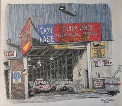 Taxi Base - Marrickville (Peter Rush - drawings) Tags: peterrush urbansketch urbansketchers drawing sketch australia sydney marrickville