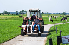 Holland - Hay making (work ethic) (Eduard van Bergen) Tags: holland netherlands niederlande dutch hay haymaking grass tractor trekker weiland sweiland warmond rijpwetering kaag eiland meadow smc pentax k5 ed wr dutchman dutchmen boys girls farmer wife working water lake ditch warm hot day ark woonboot home farm klompen tulips houseboat scouting zeilboot sailboat sailing flag tele teleshot da oss 200mm ferguson massey 4235 sky wood road tree people cows vee cattle lifestock trailer ethic ethos work polder hooi geest oudade youth