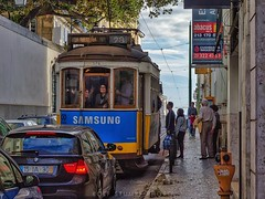 That smile (rolfstumpf) Tags: portugal lisbon lisboa estrela tram streetcar streetphotography brill carris people smile urban publictransport
