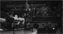 Early days' steam locomotives BW (Dirk De Paepe) Tags: sonya7rii zeiss biogon2828zm trainworld schaarbeek brussels