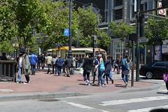 Muni 1075 Mkt + 5th 5-23-17 (THE Holy Hand Grenade!) Tags: streetcar munirailway muni stlouiscarcompany pcc downtown sanfranciscoca nikond610 nikkor50mmƒ14afd geotagged