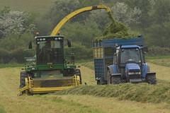 John Deere 7480 SPFH filling a Kane Trailer drawn by a New Holland TM150 Tractor (Shane Casey CK25) Tags: john deere 7480 spfh filling kane trailer drawn by new holland tm150 tractor nh cnh blue jd green self propelled forage harvester traktor traktori trekker tracteur trator ciągnik ballinhassig silage silage18 silage2018 grass grass18 grass2018 winter feed fodder county cork ireland irish farm farmer farming agri agriculture contractor field ground soil earth cows cattle work working horse power horsepower hp pull pulling cut cutting crop lifting machine machinery nikon d7200