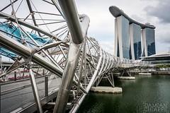 Marina Bay Sands (Damián Chiappe) Tags: asia singapur arquitectura edificio puente singapore architecture bridge fotografíadeviaje travelphotography skyscraper rascacielos marinabay