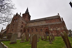 St Magnus Cathedral (PLawston) Tags: uk britain scotland orkney mainland kirkwall cathedral st magnus spire gravestone