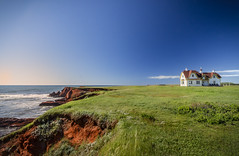 L'Etang-du-Nord (SNAPShots by Patrick J. Whitfield) Tags: houses buildings colours contrast landscape nature outside grass rocks sand beach sea water ocean seaside shores waves wet detail light summer lines patterns wideangle