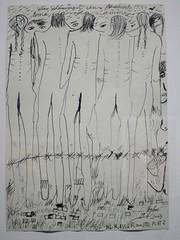"""1(9)44 Auschwitz. Nous avions honte (2003), Ceija Stojka - Exposition """"Une artiste Rom dans le siècle, Ceija Stojka"""", La Maison Rouge, Paris XIIe (Yvette G.) Tags: ceijastojka peintre écrivain poète tsigane rom exposition maisonrouge paris paris12 guerrede3945 secondeguerremondiale nazi ss extermination déportation horreur campdeconcentration génocide hollocauste porajmos"""