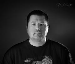 Another Self Portrait (NIKON 505) Tags: self portrait me myself black white monochrome nikon d610 85mm f14d