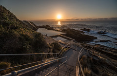 Stairway to the Sea (OzzRod) Tags: pentax k1 irix15mmf24blackstone sunrise bluepool coast shoreline ocean baths stairway bermagui dailyinapril2018