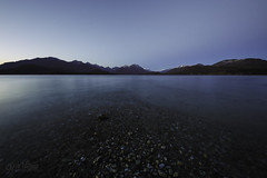 Blue Reflections (wilbias) Tags: lake sunset standing water tranquil scene waters edge tranquility dusk blue hour bc vancouver island british columbia canada kennedy provincial park long exposure