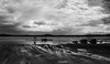 Beach (PetuPictures) Tags: finland lake water boat sky ice clouds spring blackandwhite pentax