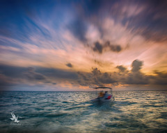 Puerto Morelos Sunrise (*Starbuck*) Tags: travel sunrise longexposure daytimelongexposure ndfilter fishingboat ocean sea waves clouds passportrequired mexico puertomorelos
