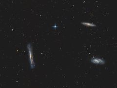 Leo Triplet - Stock DSLR imaging (Antoine Grelin) Tags: dslr astroimaging astrophotography nevadaastrophotography nevada galaxy spiral galaxies m66 m65 hamburger messier 65 66 leo triplet