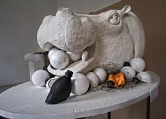 18-06_DSCF0873v1 On1 (Jacek P.) Tags: poland krakow asp wystawa exhibition students hipopotam hippo sculpture rzeźba