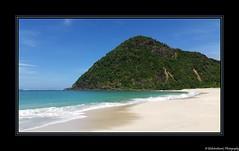 Une plage sympathique face à l'océan Indien- Près de Kuta- Sud de Lombok- Indonésie- Indonesia