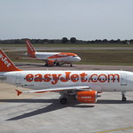 Easy Jet's G-EZIV Airbus A319  With G-EZFT Airbus A319 thumbnail