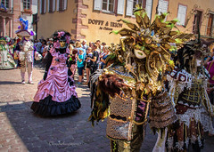 Carnival of Venice in Riquewihr 2018 - Carnaval vénitien de Riquewihr 2018 (3) (Cloudwhisperer67) Tags: canon fantastic carnival riquewihr alsace france 2018 parade 760d venetian masquerade ball masked mask venise venezzia venice italy cloudwhisperer67 fest great colors flashy incredible amazing photgraphy love lovely adorable blue robes robe costume costumes bal masqué divine comedy woman splendid urban city cityscape magic magical moment poetry image photography fantasy bokeh travel trip color people carnaval art fun europe europa 760 vénitienne rêveries vénitiennes july disguise