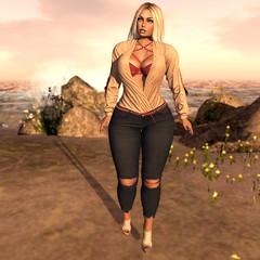 Greta... (ღMandarine12ღ) Tags: maitreya body mesh catwa head avatar addams blog sl secondlife