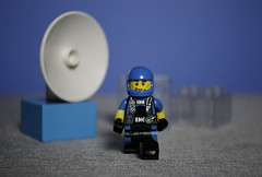 Moon walker (N.the.Kudzu) Tags: tabletop lego minifigures spacepilots canondslr lensbabyburnside35 primelens manualfocus