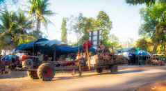 Cambodia- Transporting logs (Gilama Mill) Tags: transport people tractor lorry truck log angkor asia cambodia streets travel