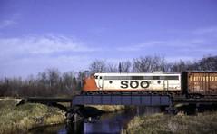 A Lone F on the St. Ignace Line (ac1756) Tags: soo sooline emd fp7a 501a extrawest carpriver moran michigan