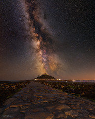 St Michael's Mount and the Milky Way (willblakeymilner) Tags: d810 fornax flm nikkor nikon cornwall marazion seascape nightscape night milkyway stars classic colourful longexposure cobbles sky astronomy astrophotography mount ocean atlantic sea coast
