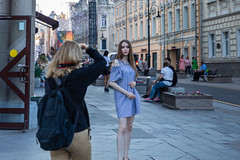 Street scene (Oleg.A) Tags: tourists megalopolis people city outdoor football evening town fifaworldcup2018 exterior summer final russia style sunset nikolsky architecture street moscow outdoors москва moskva ru