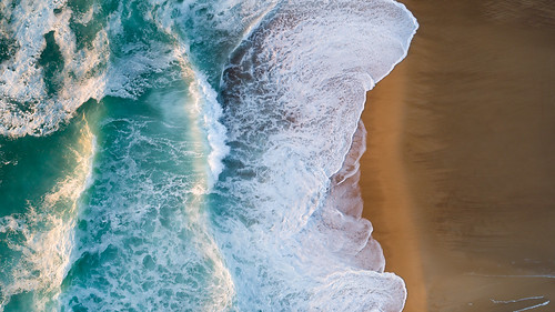 Shorebreak from Above