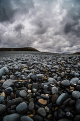 Pebbles & Clouds (evans.photo) Tags: aberystwyth coast pebbles textures wideangle fuji clouds beach wales ceredigion samyang8mm tanybwlch coastal