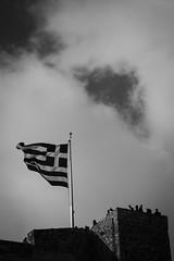 Pray for Greece (Rabican7) Tags: greece acropolis athens prayforgreece wildfires attica flag clouds smoke